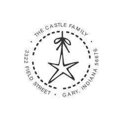 Personalized Star Monogram Self-Inking Address Stamp