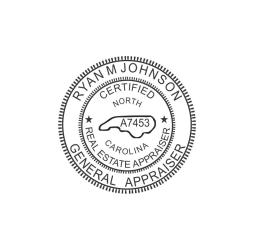 North Carolina Certified General Real Estate Appraiser Seal