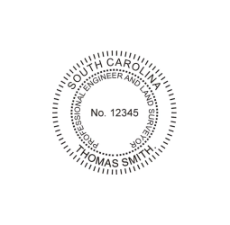 South Carolina Professional Engineer Land Surveyor Seal