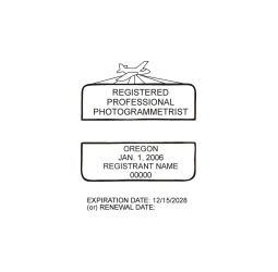 Oregon Registered Professional Photogrammetrist Seal