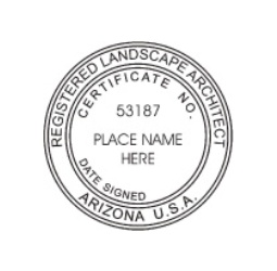 Arizona Registered Landscape Architect Seal