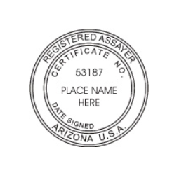 Arizona Registered Assayer Seal