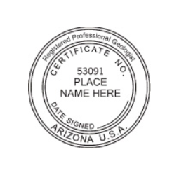 Arizona Registered Professional Geologist Seal
