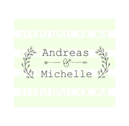Custom Laurel Wreath Wedding Stamp