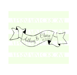 Wedding Stamp Date and Name Calligraphy Stamp