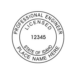 Idaho Licensed Professional Engineer Seal