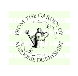 Custom From the Garden of  Stamp