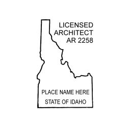 Idaho Licensed Architect Seal