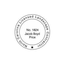 North Carolina Licensed Landscape Contractor Seal