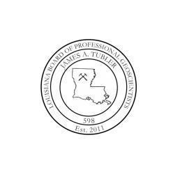 Louisiana Professional Geoscientist Seal
