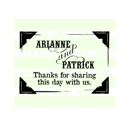 Custom Wedding Thank You Stamp- Wedding Stamp