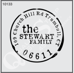 Custom Round Return Address - Family Name Stamp