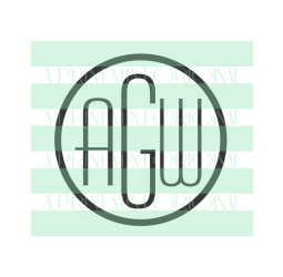 Simple Round Monogram Stamp- Custom Initials  Stamp