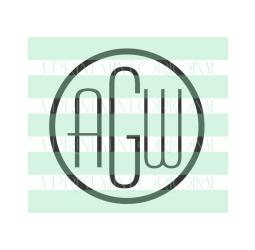 Simple Round Monogram Stamp- Custom Initials  Stamp