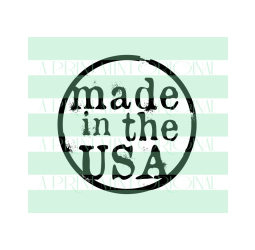 Round Made In Any State Stamp- Mini Made in State or City Small Stamp