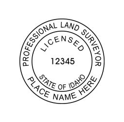Idaho Land Surveyors Seal