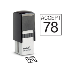 Square Self-inking Inspection Stamps- Trodat