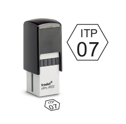 Hexagon Inspection Self-inking Stamps- Trodat