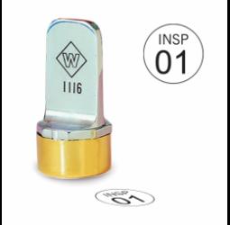 Circle Metal Inspection Stamp- Neoprene