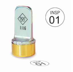 Circle Metal Inspection Stamp- Neoprene