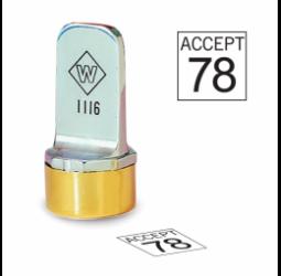 Square Metal Inspection Stamp- Neoprene