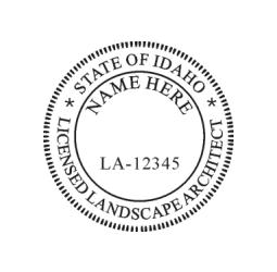 Idaho Licensed Landscape Architect Seal
