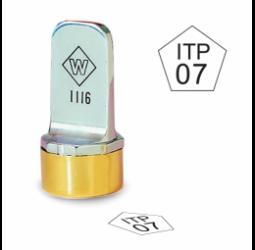 Pentagon Metal Inspection Stamp- Neoprene