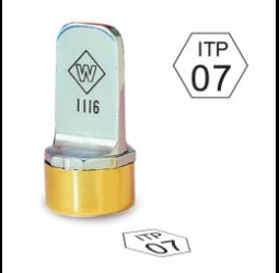 Hexagon Metal Inspection Stamp- Neoprene