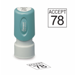 Circle Inspection Stamps- X-Stamper
