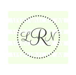 Simple Round Monogram Doted Stamp- Custom Initials Stamp