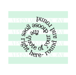 Custom Quote Stamp- Personalized Phrase