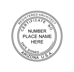 Arizona Registered Architect Seal