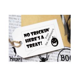Custom Halloween Gift Tag Stamp