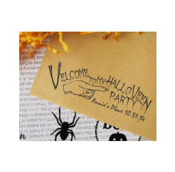 Custom Halloween Stamp- Vampire Halloween Party, Velcome Stamp