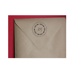 Christmas Return Address Stamp- Custom Wreath Envelope Stamp