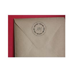 Christmas Return Address Stamp- Custom Wreath Envelope Stamp