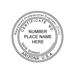 Arizona Registered Professional Engineer Seal
