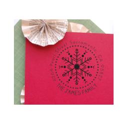 Christmas Return Address Stamp- Custom Snowflake Stamp