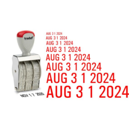 Line Daters Stock Stamps