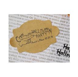 Custom Halloween Invitation Stamp