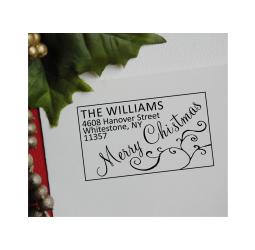 Christmas Address Stamp- Merry Christmas Stamp