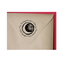 Crescent Moon Custom Return Address Stamp, Sketch Moon  Stamp