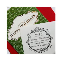 Merry Christmas From Stamp- Custom Vintage Christmas Stamp
