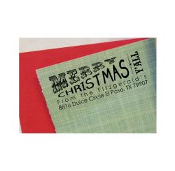 Texas Christmas Return Address Stamp- Custom Southern Christmas Stamp