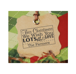 Custom Christmas Stamp- Custom Christmas Joy and Love Stamp