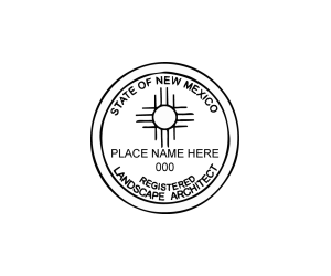 New Mexico Landscape Architect Seal