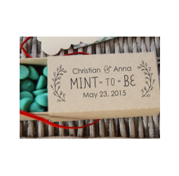 Mint To Be Custom Wedding Stamp, Wreath  Self inking and Rubber Stamp