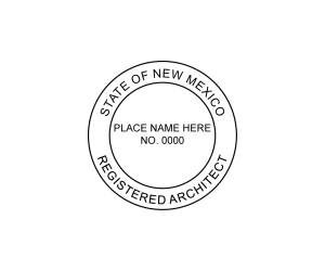 New Mexico Registered Architect Seal
