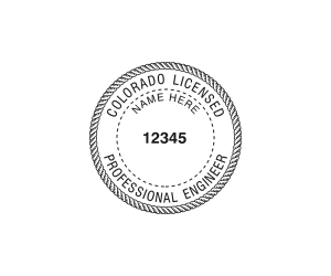 Colorado Professional Engineer Seal