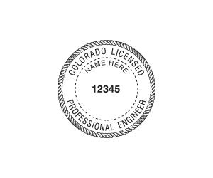 Colorado Professional Engineer Seal
